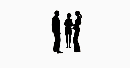 4k Business People Silhouette Talking stock footage
