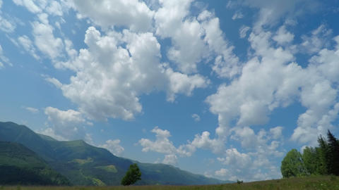 Cloudy Sky in Mountains Footage