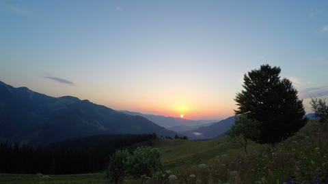 Mountain Landscape. Sunrise stock footage