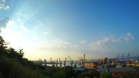 Sea Trading Port Activity stock footage