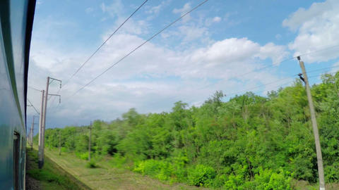 Traveling By Passenger Train stock footage