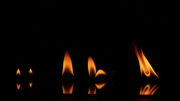HD Footage Of Real Fire In Black Background stock footage