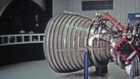 1971: Cape Canaveral space shuttle real engines museum display Footage