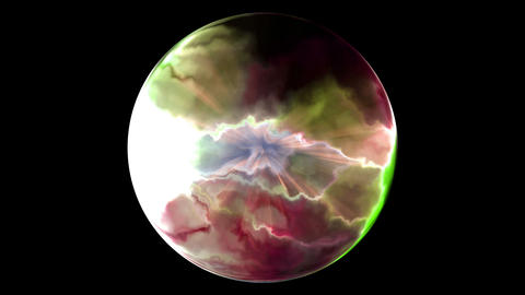 Colorful spherical abstract Animation