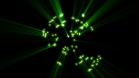 Green rays of light Animation
