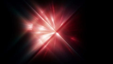 Red Bright Flare Effects stock footage