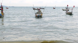 Fisherman Boats stock footage