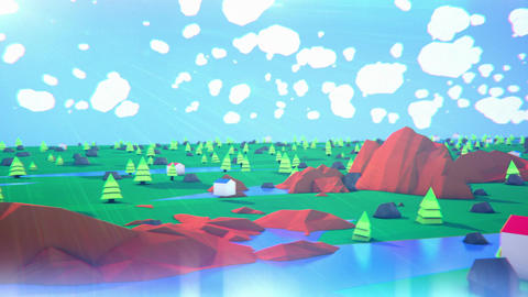 Lowpoly Landscape Animation
