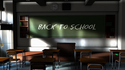 School classroom, back to school concept animation Animation