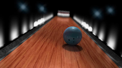 Bowling ball strike POV animation Animation