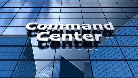 Command center building blue sky time-lapse Animation