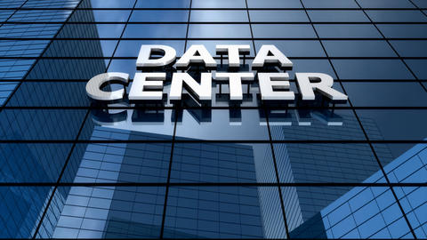 Data center building blue sky time-lapse Animation