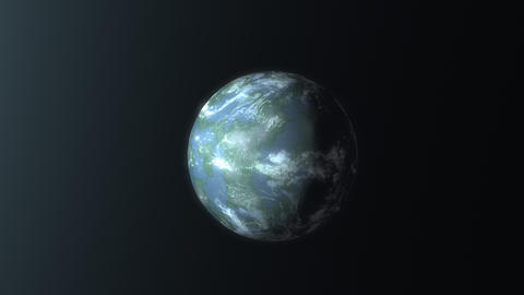 Artist concept rendering Earth like planet discovery Animation