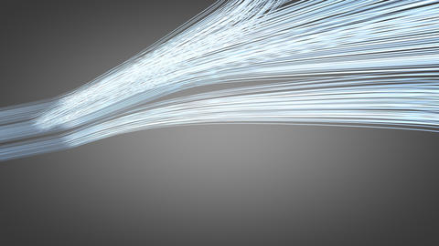 Communication and internet technology fiber optic Animation