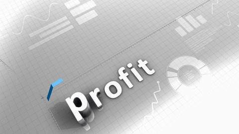 Growing chart animation, profit Stock Video Footage