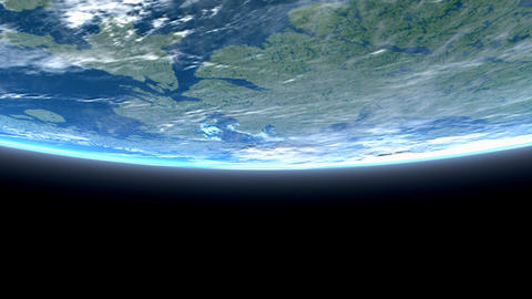 Beautiful low earth orbit view Animation