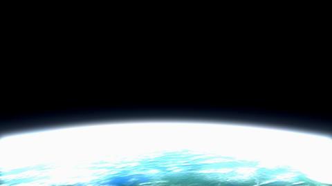 Beautiful low earth orbit view Stock Video Footage