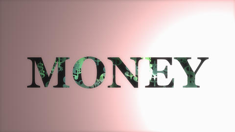 Bank note, money creative animation Animation