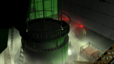 Nuclear reactor meltdown, safety and emergency Animation