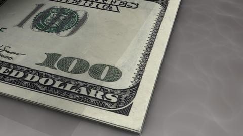 Paper money flips animation Dollar Animation