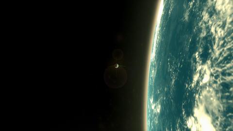 Man 1st artificial satellite, USSR Sputnik 1 Animation