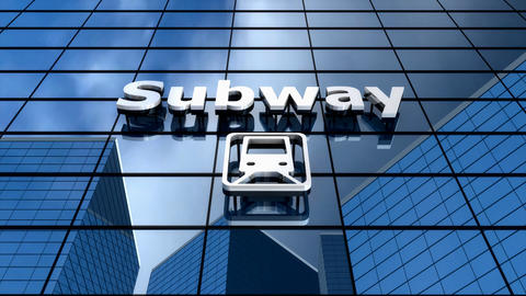 Subway building blue sky time-lapse Animation