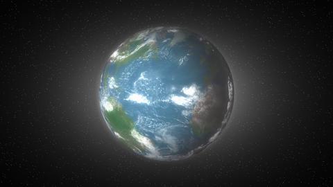 Creative conceptual animation, clock on earth globe Animation
