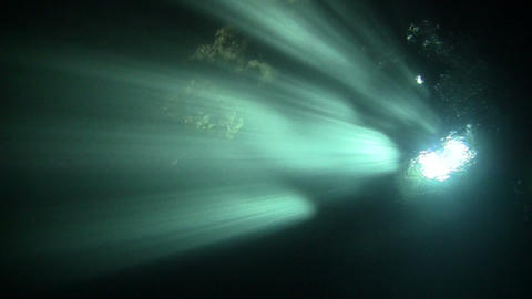 Strong Sunray In Underwater stock footage
