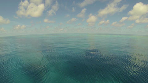 Pov Beautiful Ocean waves and white cloud Footage