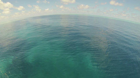 Pov Beautiful Ocean waves with horizon in distance Footage