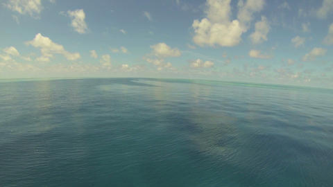 Pov Beautiful Ocean Waves And White Cloud stock footage