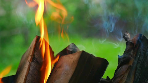 Wood Burning stock footage