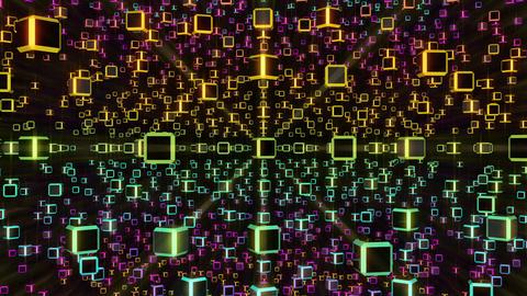 VJ Loops Rotating Cubes