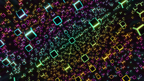 VJ Loops Rotating Cubes 1