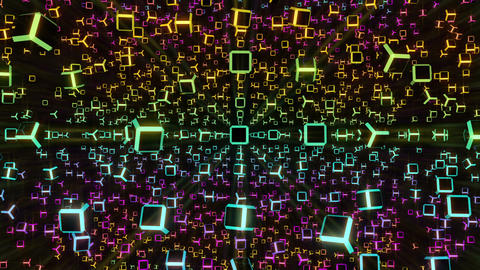 VJ Loops Rotating Cubes 2