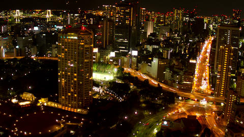 Tokyo Nightscape time lapse Footage