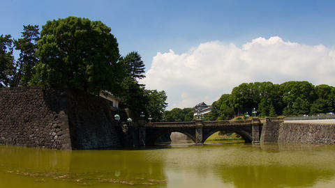 Imperial Palace (Niju-bashi Bridge) Time Lapse stock footage