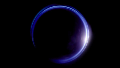 Lens ring flares crossing of circle shape Animation
