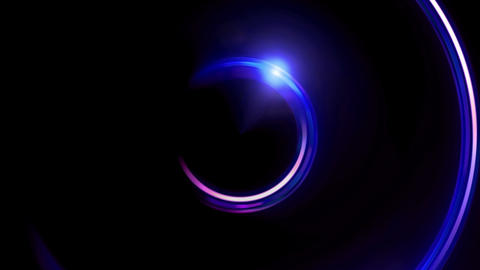 blue double ring flares Animation