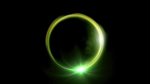 green Solar eclipse ring flare Animation