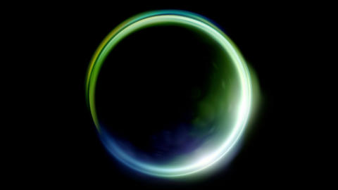 green blue Lens ring flares crossing of circle shape Animation