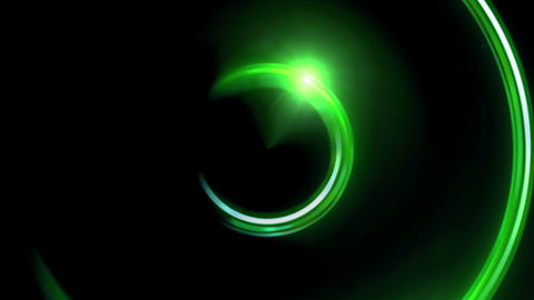 green half ring double flares Animation