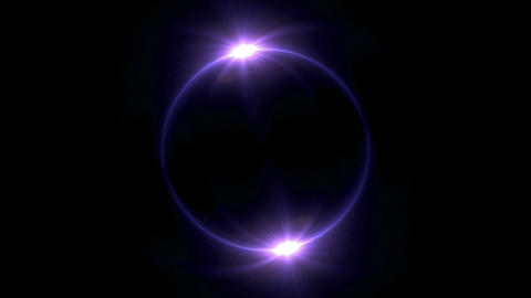 purple Solar eclipse in space concept with ring flare Animation