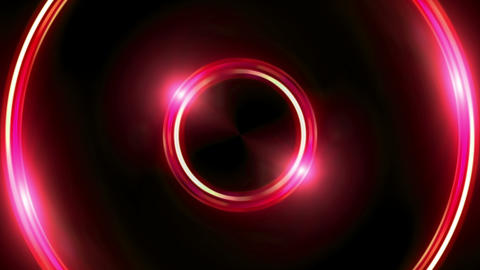 red Lens ring flares double circle Animation