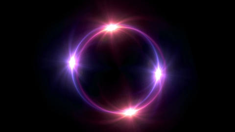 red Solar eclipse in space concept with ring flare Animation