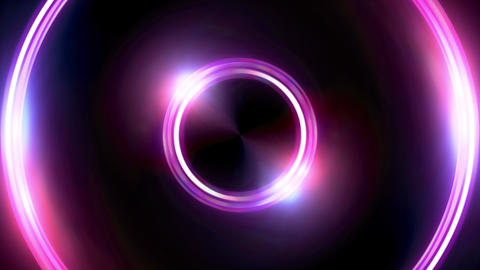 red blue Lens ring flares double circle Animation