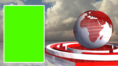 Weather News Update Broadcast Television Green Screen Footage