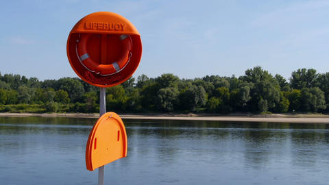 Lifebuoy prepared for use Footage