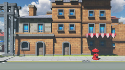 Street Of Town In A Cartoon Style stock footage