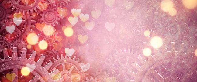 romance heart gear Stock Video Footage